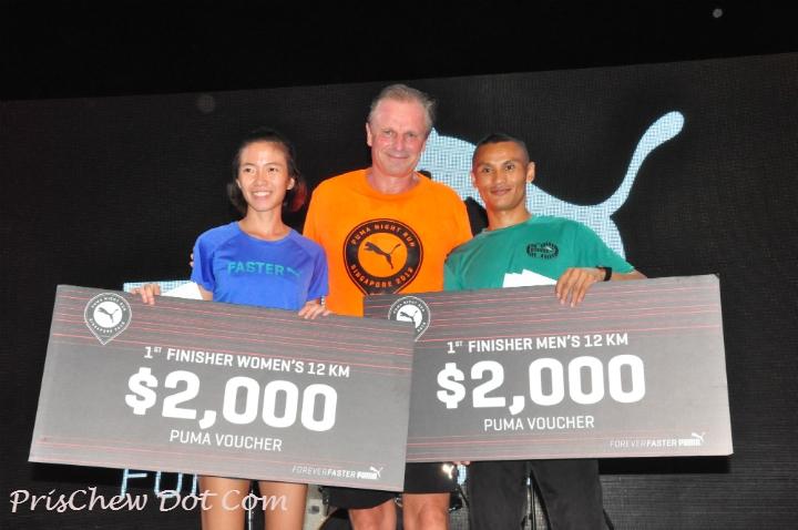 Prize winners at the Puma Night Run 2016.