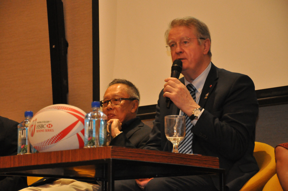 World Rugby Chairman Bernard Lapasett was also at the Conference.
