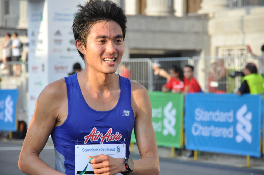 Mok Ying Ren is the first Singaporean to cross the finishing line.