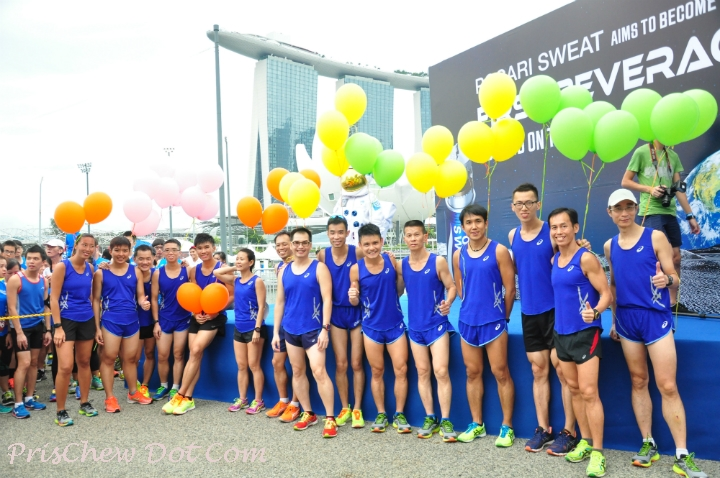 Pacers from ASICS running club are all hyped up for the run.