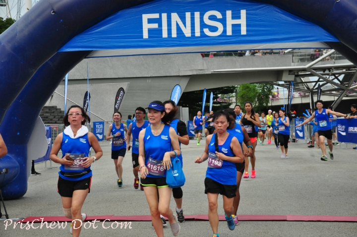 Some 5KM runners complete their race.