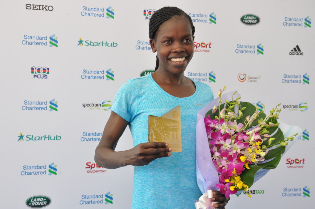 Doris Changewyo wins in the Full Marathon Women's Open category - on her marathon debut.