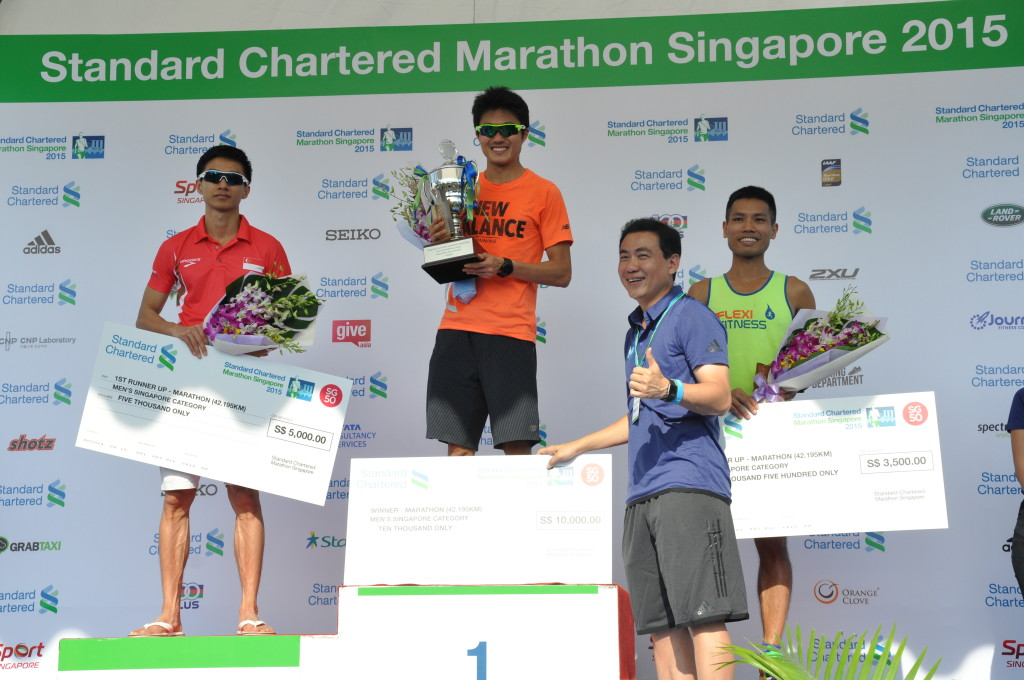 Top three Singaporean Men finishers.