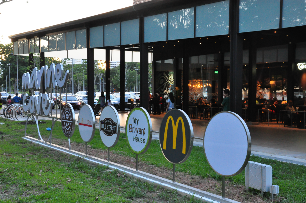 The new McDonald's at the redeveloped Marine Cove.