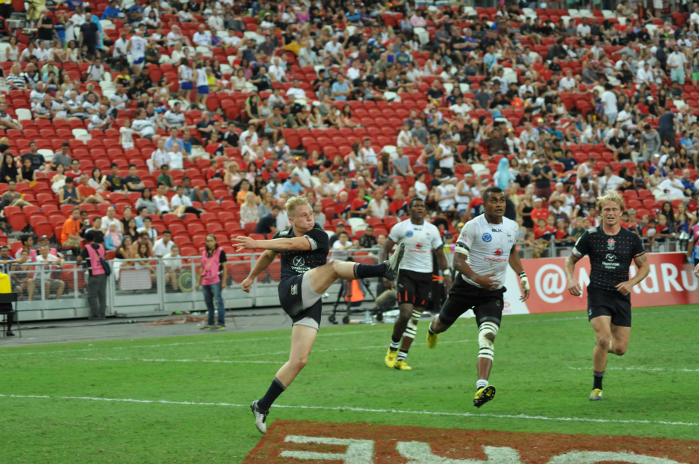 Fiji won their final match to qualify for the Quarter Finals.