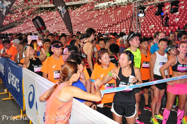 The ASICS City Relay took place last night.