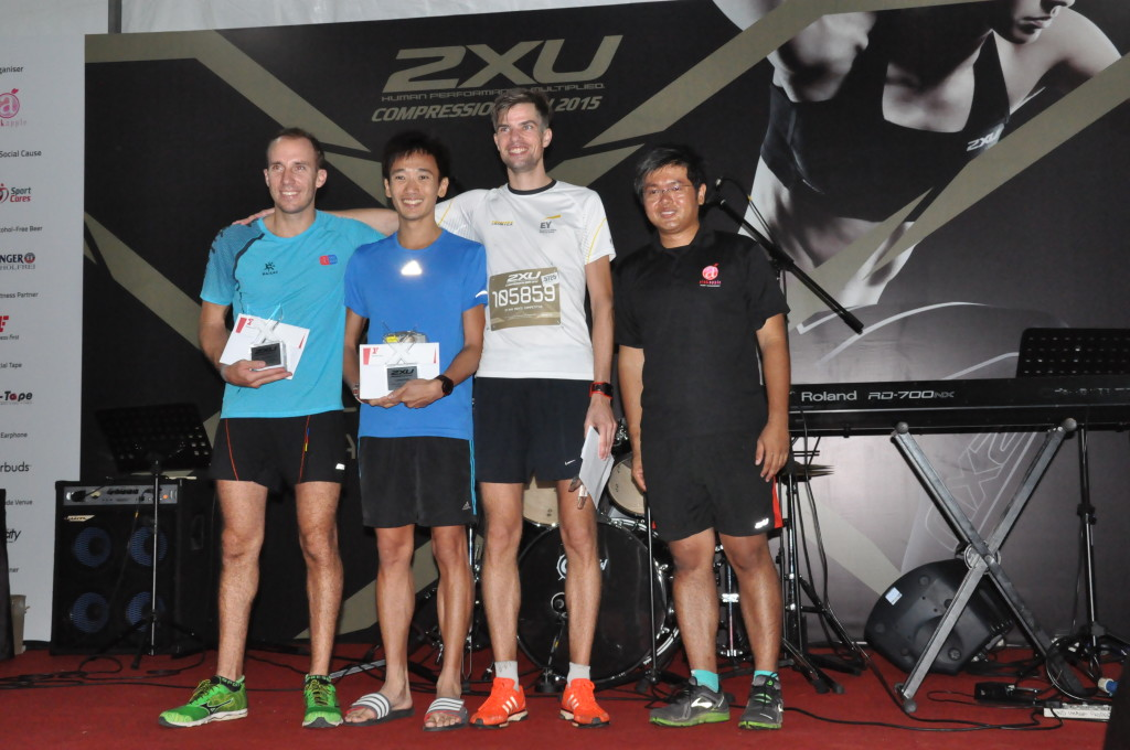 The Men's 21.1km winners.