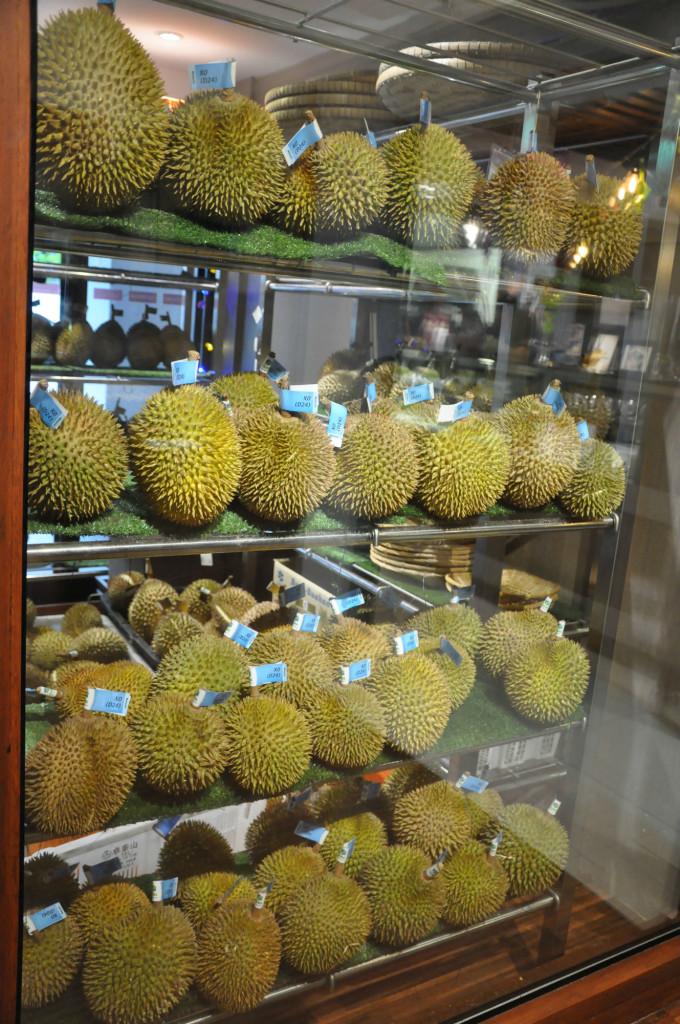 Rows of D24 durians.