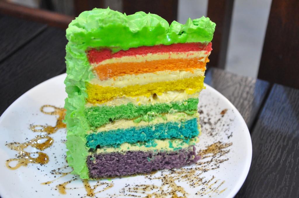 Durian Rainbow Cake.