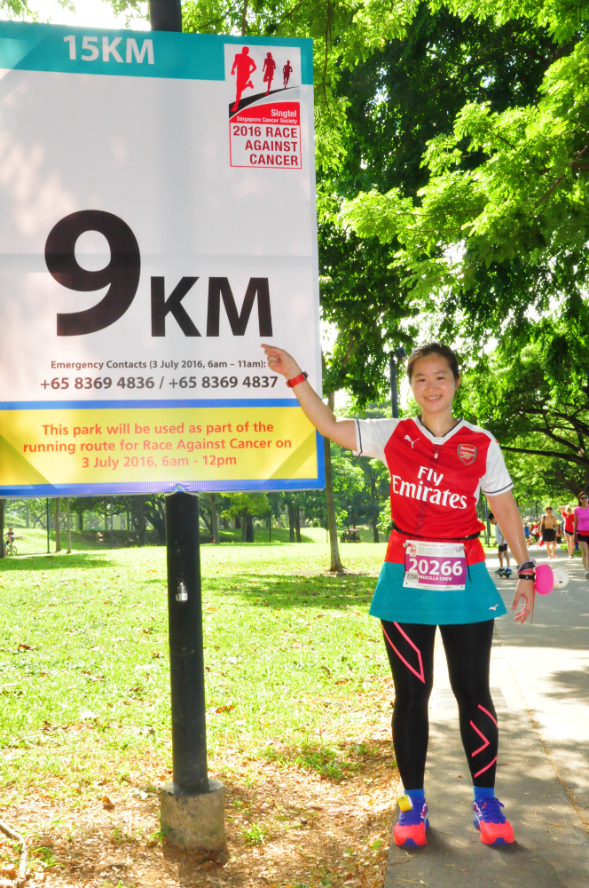 Happy to see the 9KM marker.