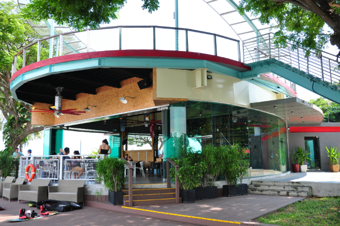 The Coastal Rhythm Cafe at the Singapore Wake Park.