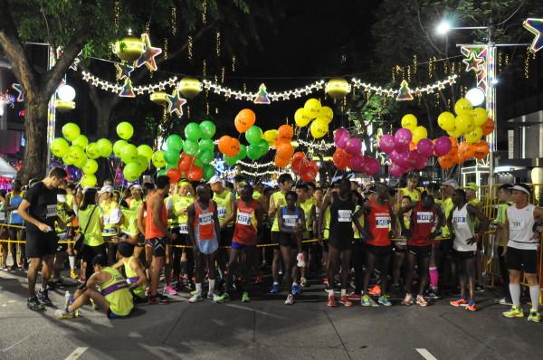 Runners eagerly await for the Full Marathon to flag off.