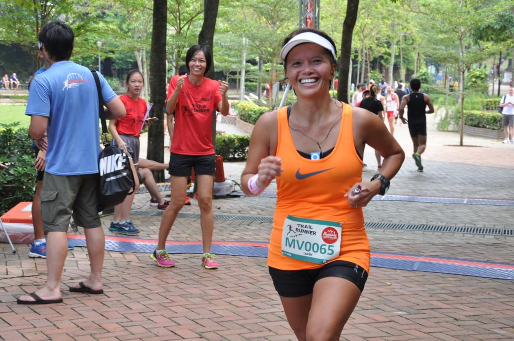 A happy runner!