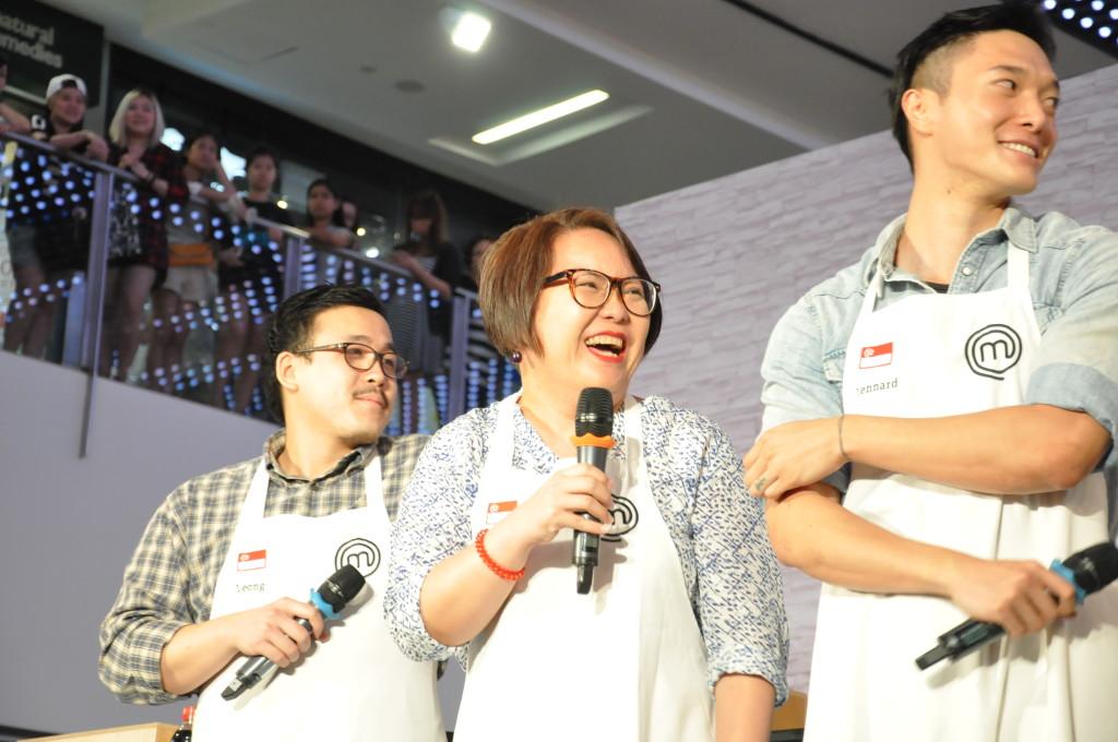 The 3 Singaporean MasterChef Asia contestants.