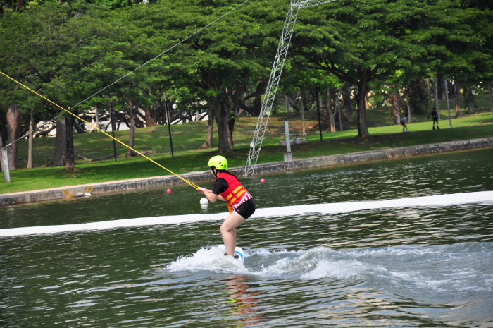 Wakeboarding is not as easy as it looks...