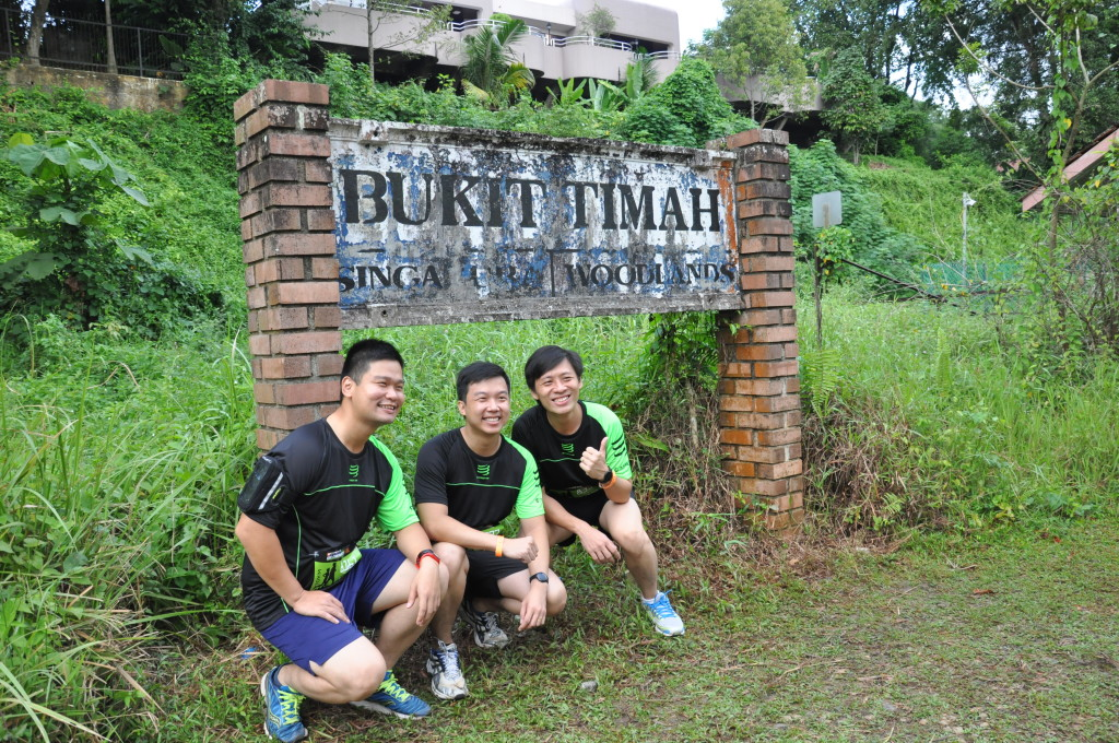Runners take photos to remember the Green Corridor before it closes for redevelopment.