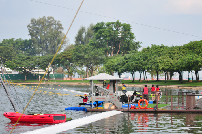 The Singapore Wake Park is well set up.