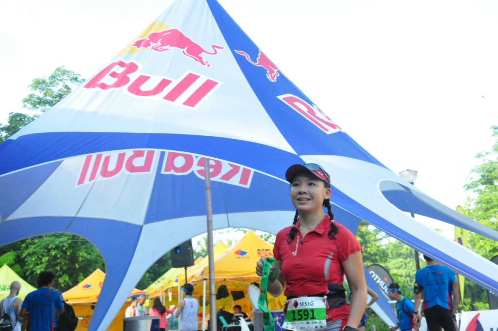 Red Bull for the runners.