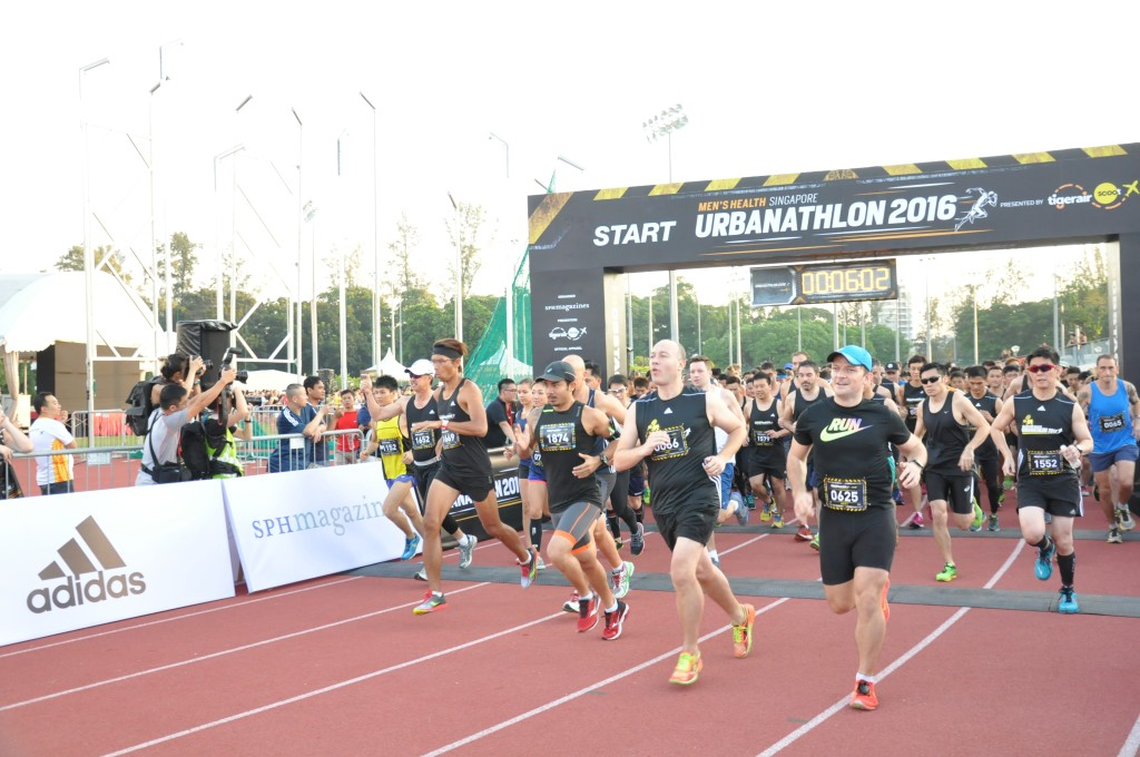 The Men's Health Urbanathlon took place today.