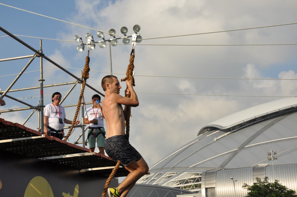 Many of the participants loved this flying fox obstacle.