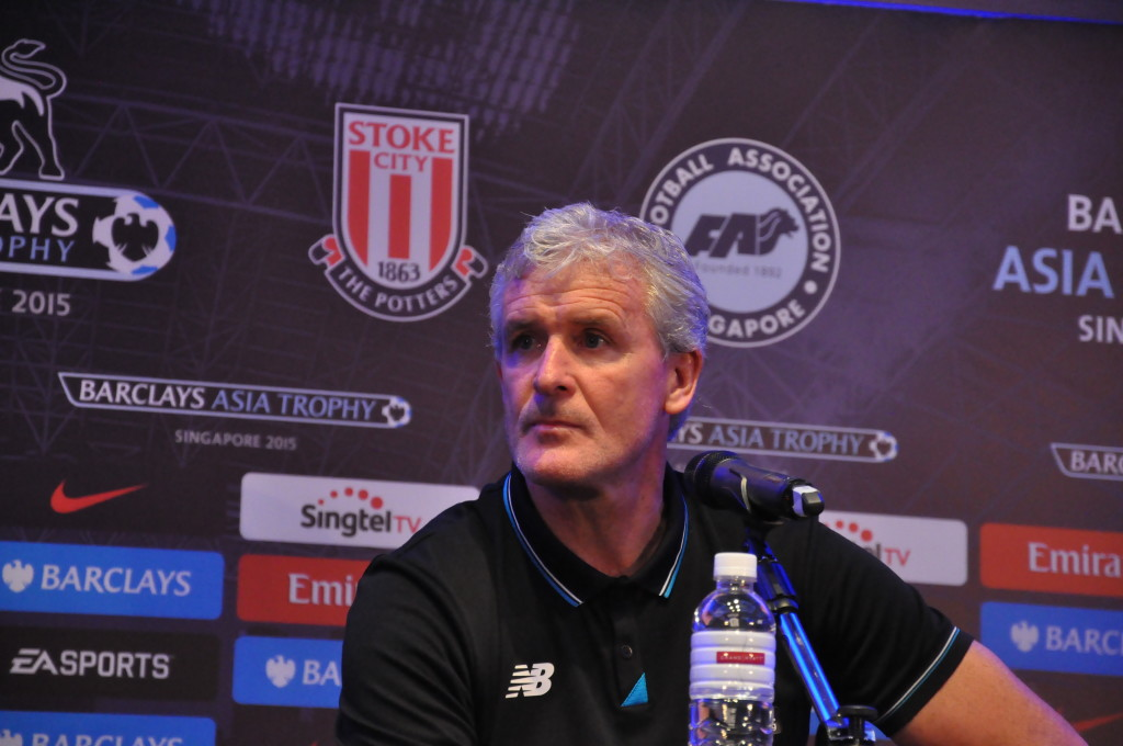 Stoke manager Mark Hughes.