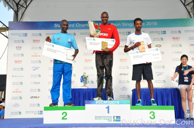 Men's Open Marathon prize giving ceremony.