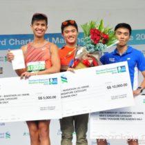 Men's Local Marathon prize presentation ceremony.