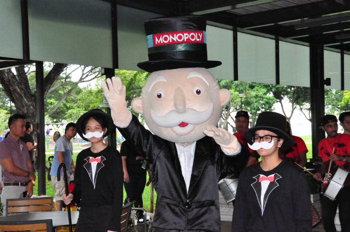 Mr Monopoly at the launch.