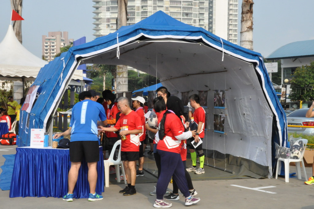 Runners getting insights, through photos, of what happens during a disaster.