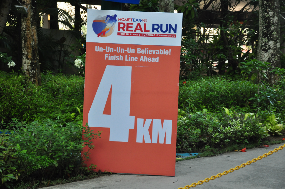 The 4km marker.