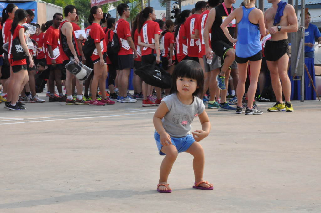 Never too young to start running and helping humanitarian causes!
