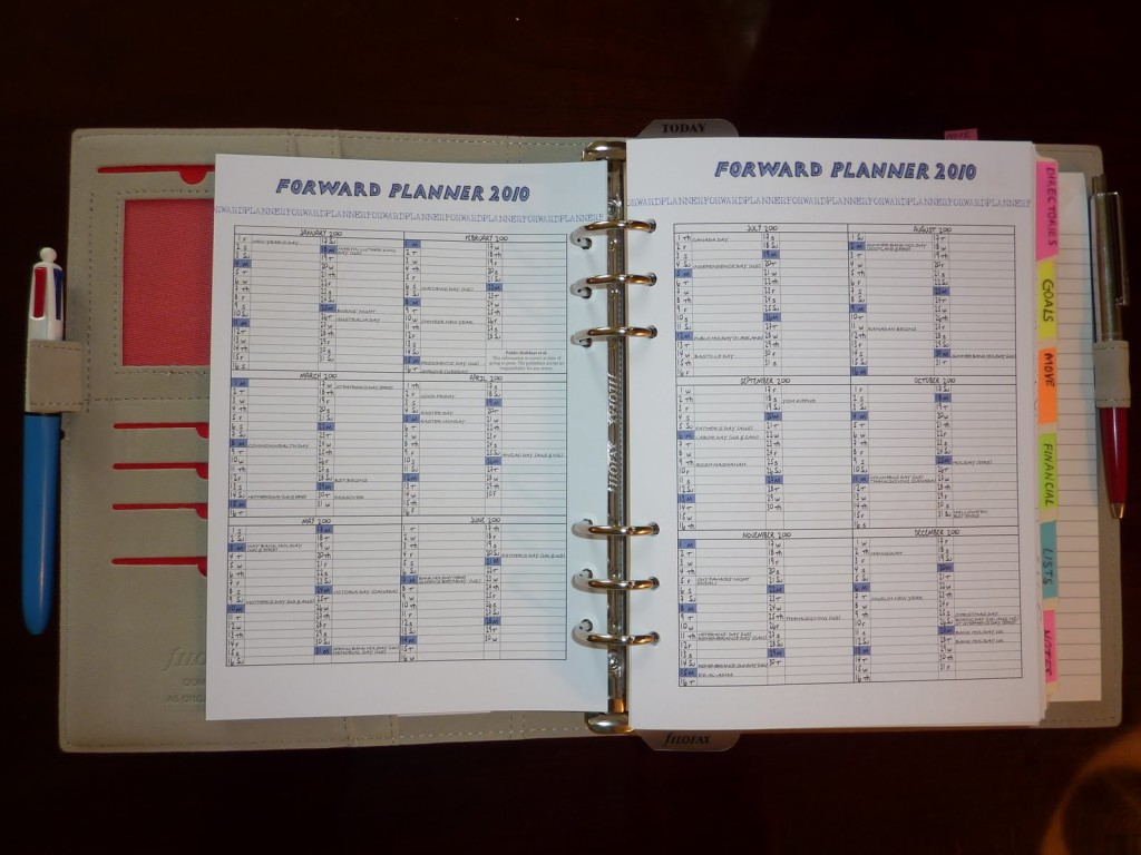 Plan your running time around your weekly schedules. [Photo from www.plannerisms.com]