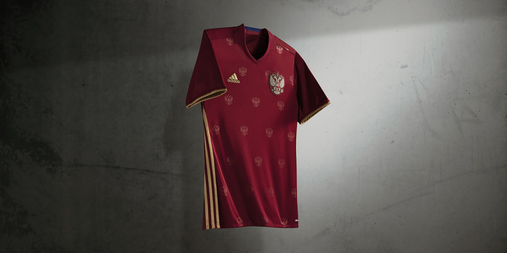 Russia Home Kit for Euro 2016.