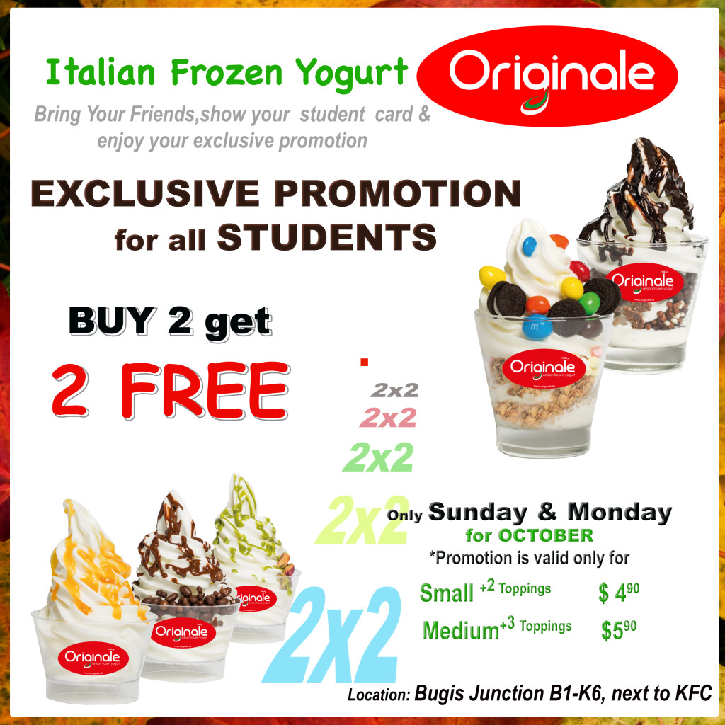EXCLUSIVE Promotion for Students October