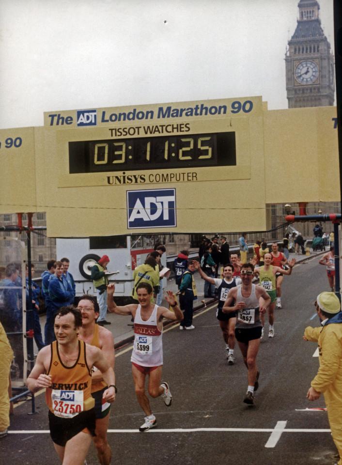 London Marathon 1990. Photo credit: Maddog