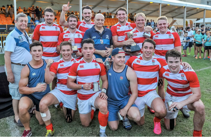 Winners of the 69th edition of the Singapore Cricket Club International Rugby Sevens Cup, the England Academy. (Photo Credit SCC 7s)
