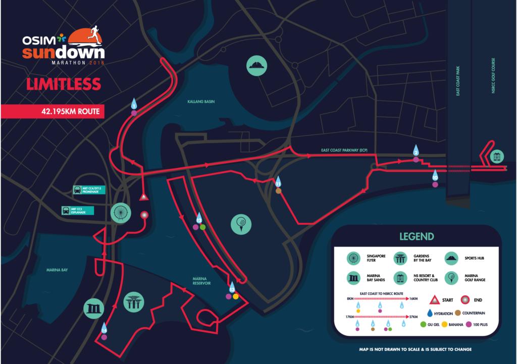 Know your race route for the Sundown Marathon.
