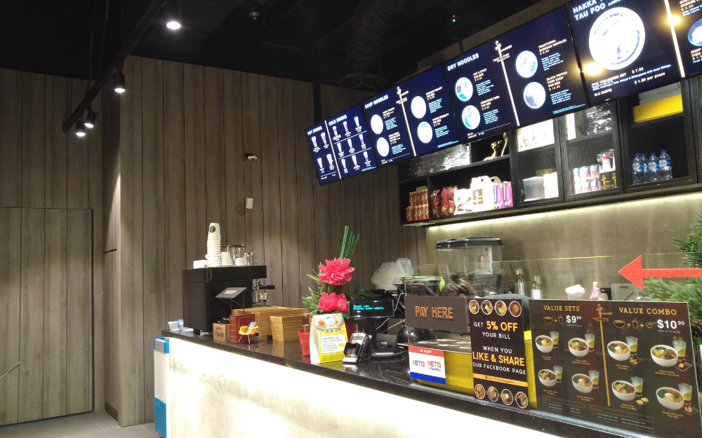 Face To Face Noodle House's first Singapore outlet at City Square Mall.