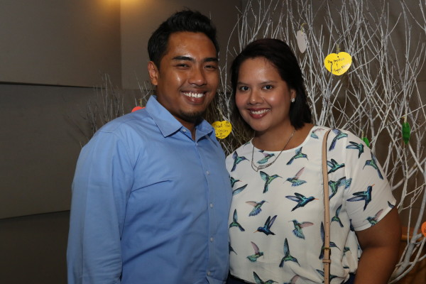 The happy couple at a Bone Marrow Donor Programme event. Credit: Faizah & Farhan