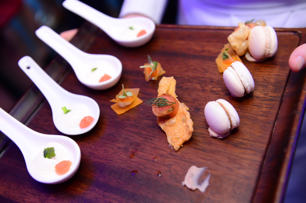 Canapés served to guests at the Food Hero finale. (Credit to: Scripps Networks Interactive).