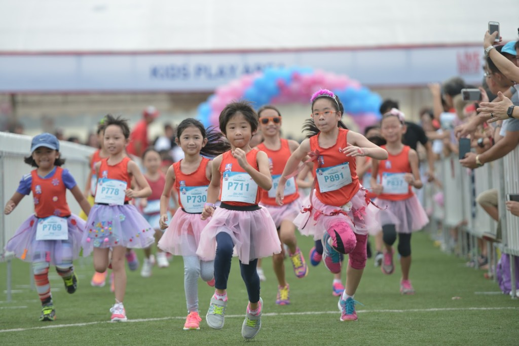 Adorable little girls running the Princess Dash. (Credit to Great Eastern Women's Run 2015)