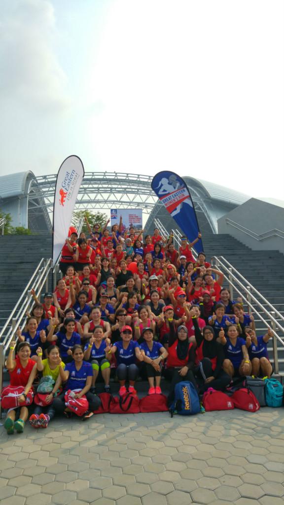 Happy women after the GEWR training run.