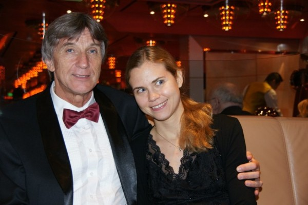 Anton Reiter (left) and his daughter on board a cruise ship.