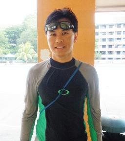 Sports physiotherapist, Gino Ng.