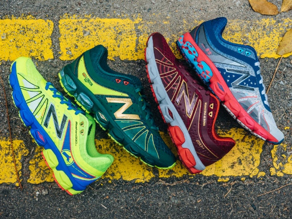 Limited edition Global City Running Pack shoes, by New Balance.