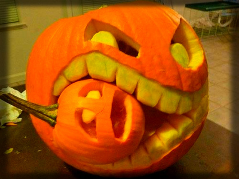 Why do people carves faces into pumpkins during Halloween? (Source: www.fanpop.com)