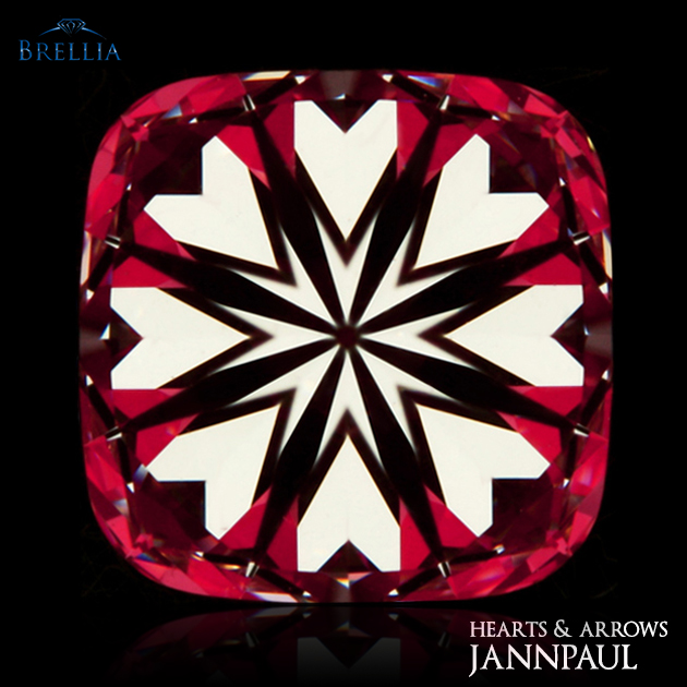 JannPaul's Hearts & arrows Brellia Diamond. (Credit: JannPaul).