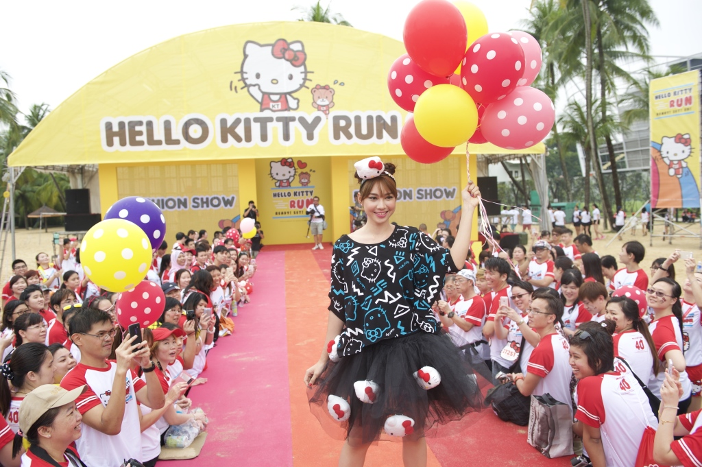 There was a fashion show at the end point. (Credit: Hello Kitty Run).