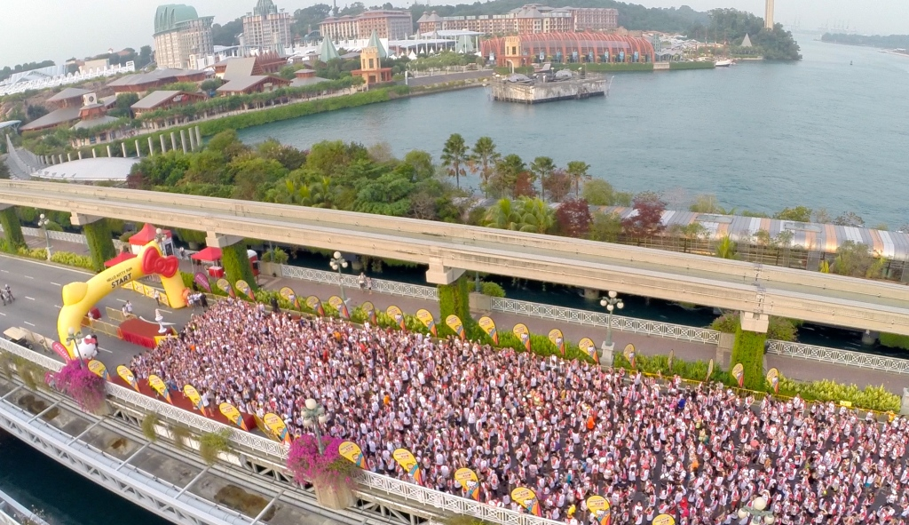 The scenic race route took runners through Sentosa. (Credit: Hello Kitty Run).