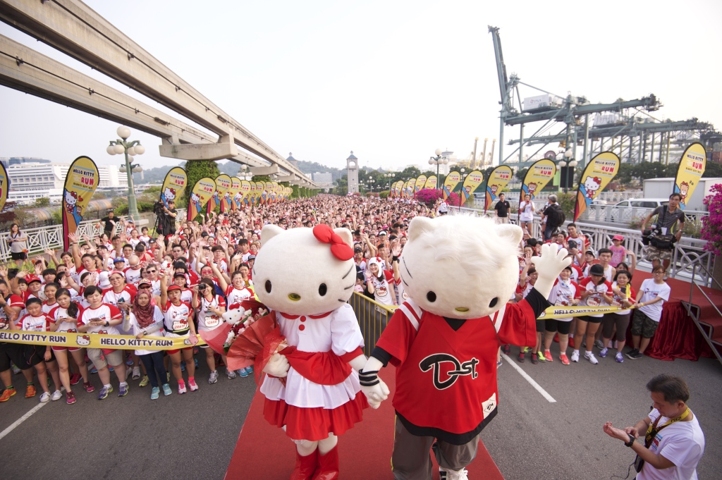 Singapore's first Hello Kitty Run took place this morning. (Credit: Hello Kitty Run).